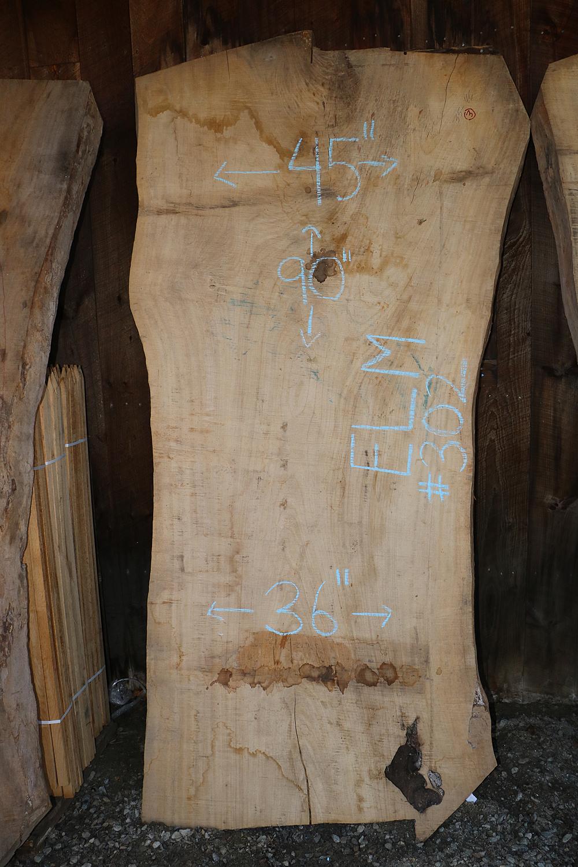 Live Edge Elm Slab Elm 302 Goosebay Sawmill And Lumber