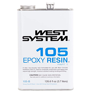 Photo of Bottle of West System 105 Epoxy Resin Part 1